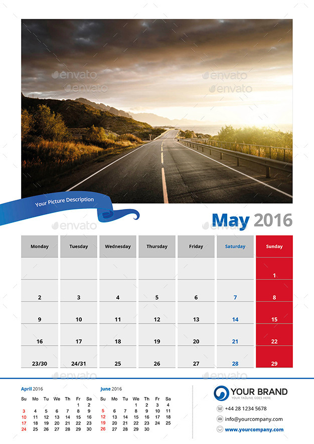 Wall Calendar 2016 By Olaylay | Graphicriver