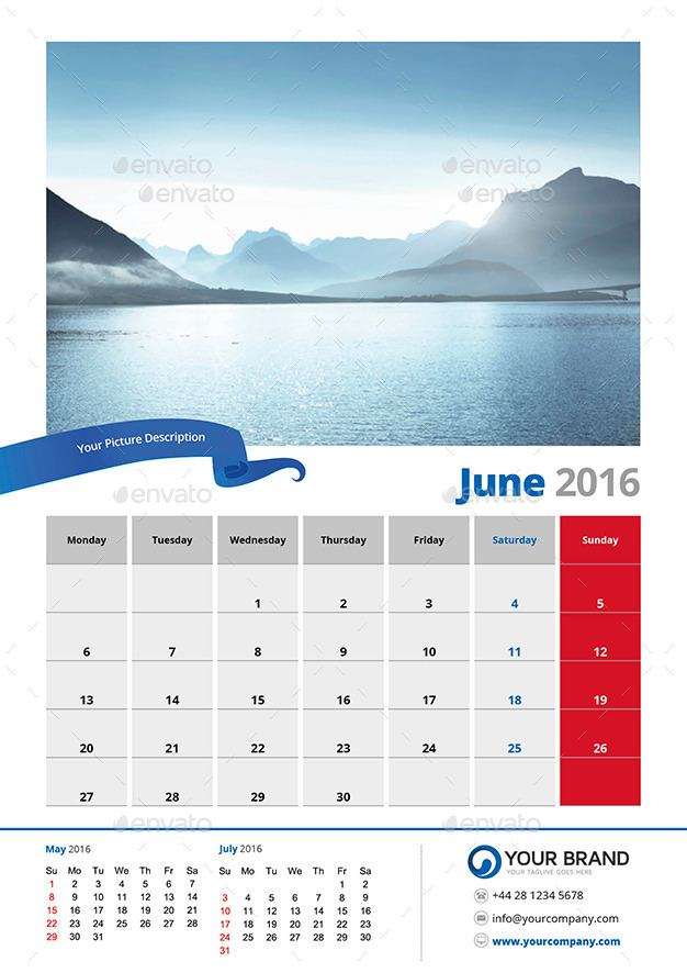 Wall Calendar  By Olaylay  Graphicriver