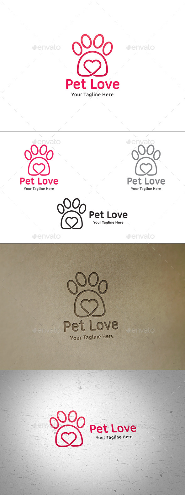 Pet Love Logo - Animals Logo Templates