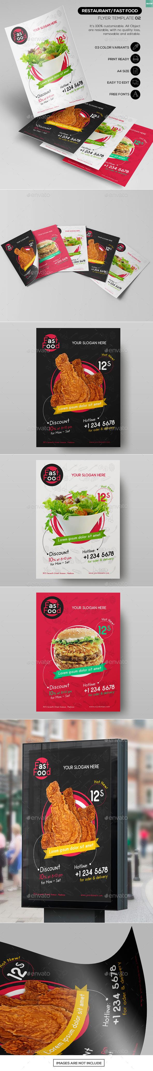 Restaurant/ Fast Food - Flyer Template 02 - Restaurant Flyers