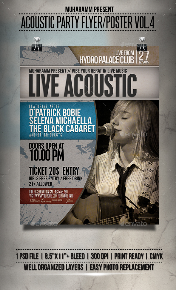 Acoustic Party Flyer / Poster Vol.4 - Events Flyers