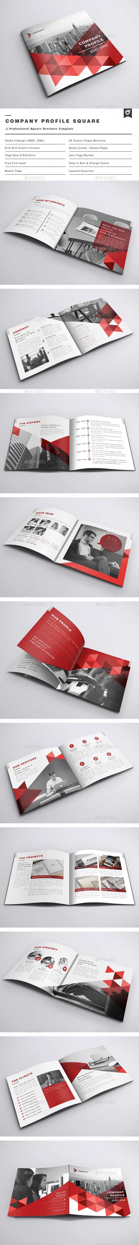 Company Profile Square Brochure