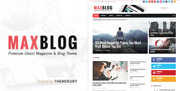 MaxBlog – News & Magazine Ghost Theme