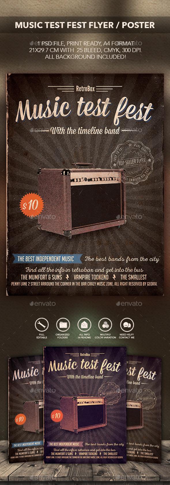 Music Test Fest Flyer - Flyers Print Templates