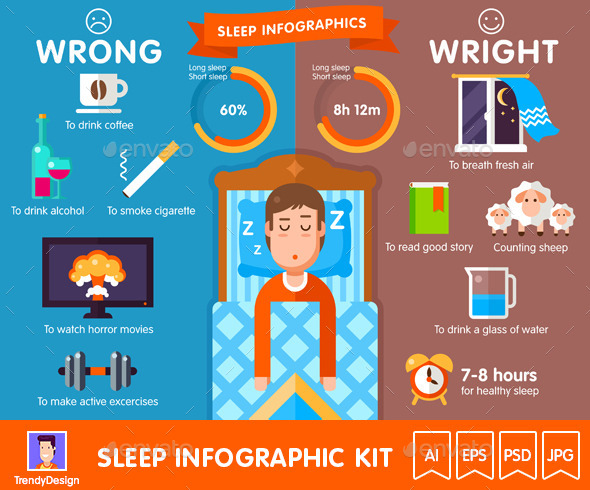 Sleep Infographic Kit - Health/Medicine Conceptual