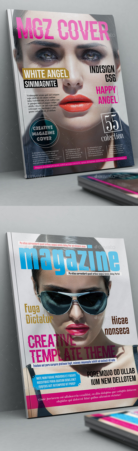 Mgz Cover Template - Magazines Print Templates