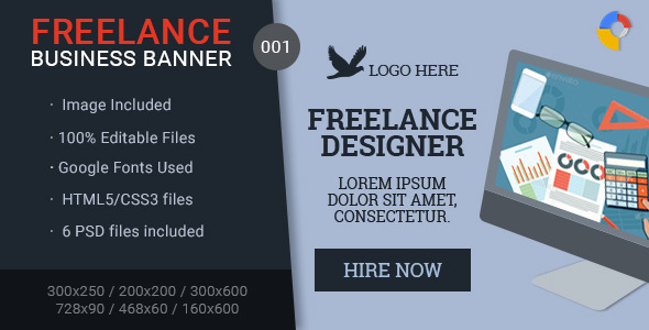 Freelance Business Banner - 001 - CodeCanyon Item for Sale