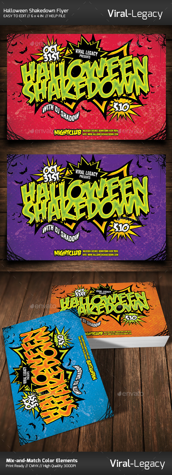 Halloween Shakedown Flyer - Flyers Print Templates