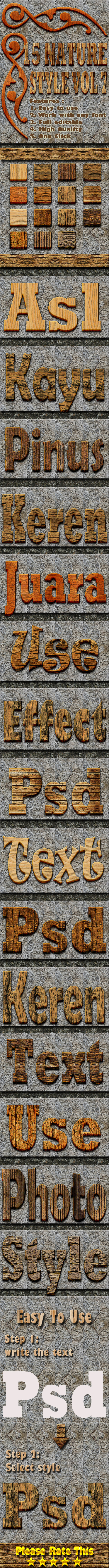 15 Nature Text Effect Style Vol 7 - Styles Photoshop