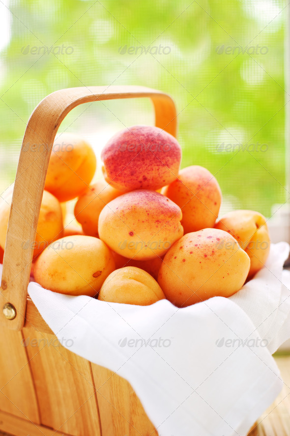 Basket with juicy fruits - Stock Photo - Images