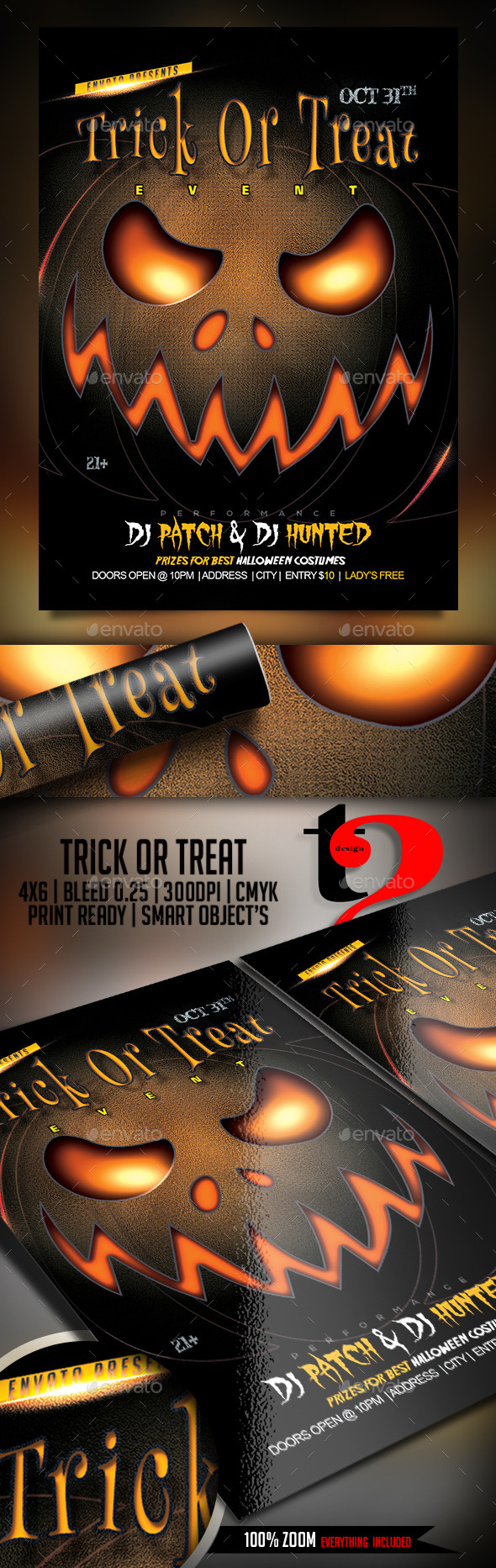 Trick Or Treat Halloween Party Flyer - Clubs & Parties Events