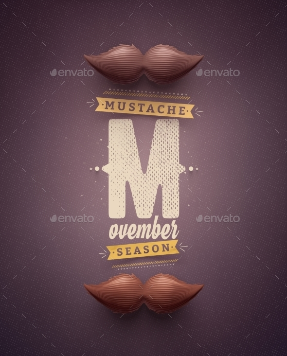 Movember Time - Miscellaneous Vectors