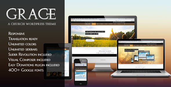 Grace - Religion WordPress Theme - Churches Nonprofit