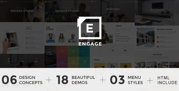 Engage - Creative One Page Parallax Drupal Theme