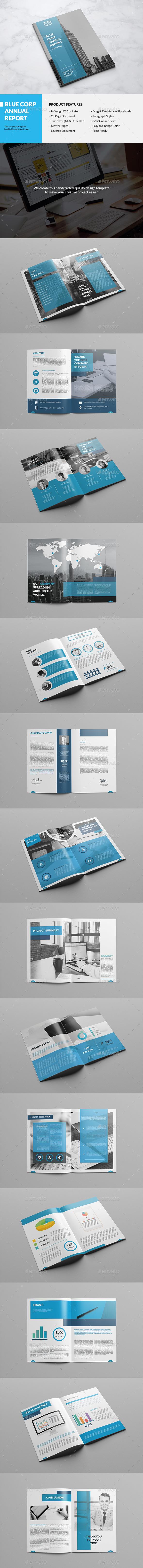 Elegant Blue Annual Report - Informational Brochures