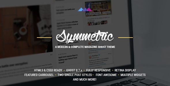 Symmetric – A magazine theme for Ghost
