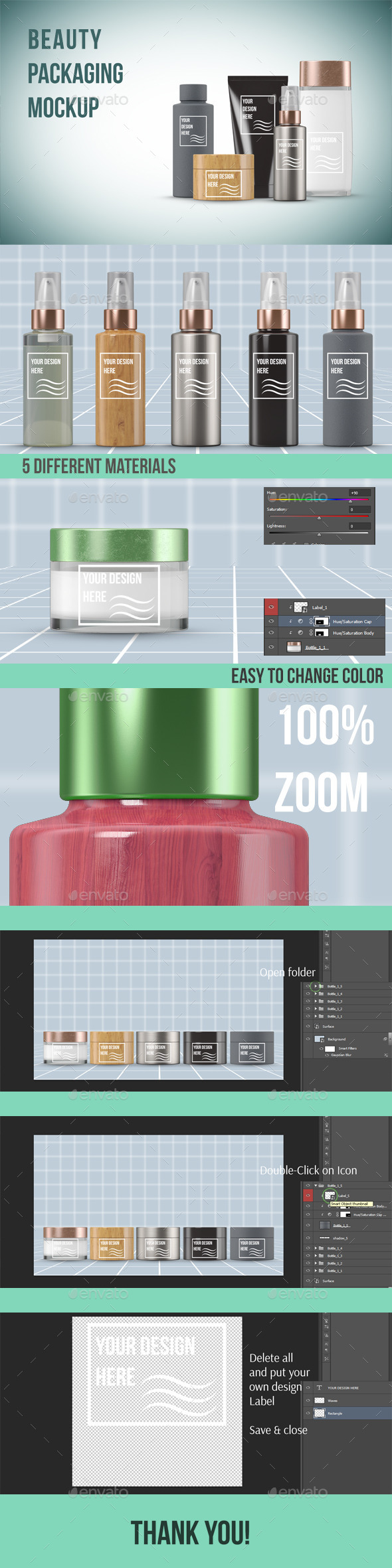 Beauty Products Packaging Mockup - Beauty Packaging