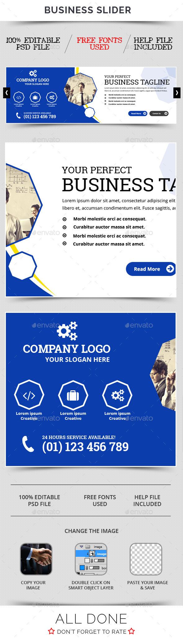 Business Slider V36 - Sliders & Features Web Elements