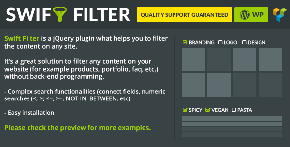 Swift Filter - Visual Composer Ready - CodeCanyon Item for Sale