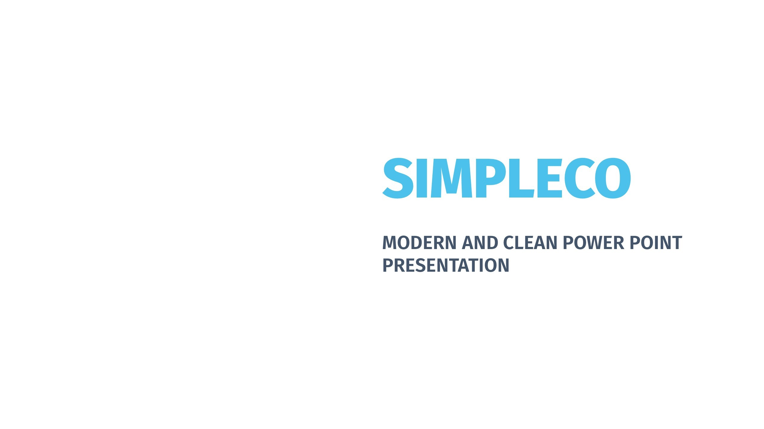 SIMPLECO Simple Powerpoint Template by TIT0 | GraphicRiver