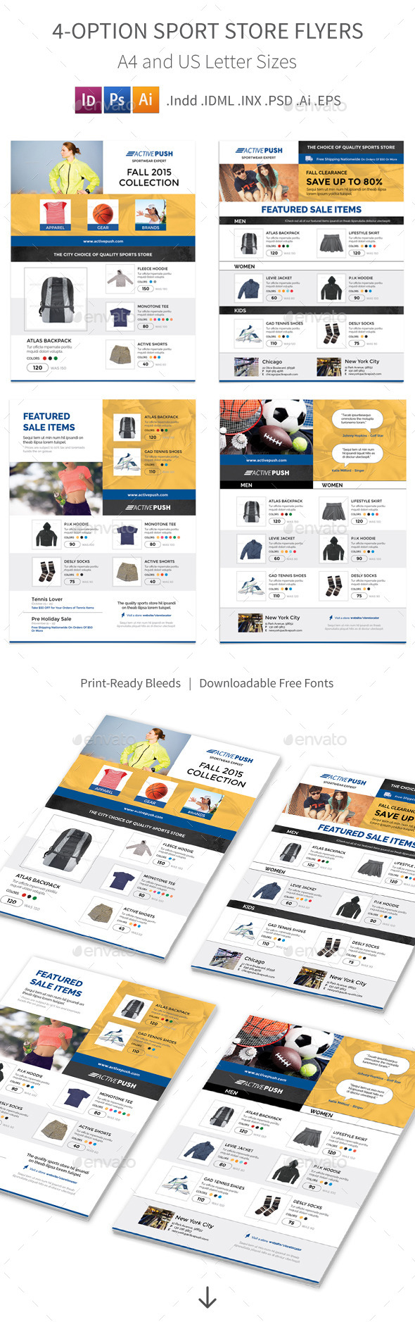 Sport Store Flyers – 4 Options - Commerce Flyers