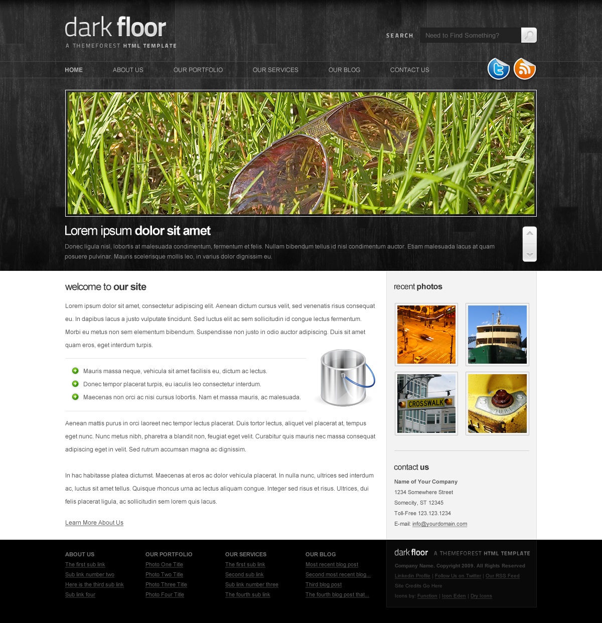 Free Download Dark Floor HTML Template - 6 Pages, 7 Colors Nulled Latest Version