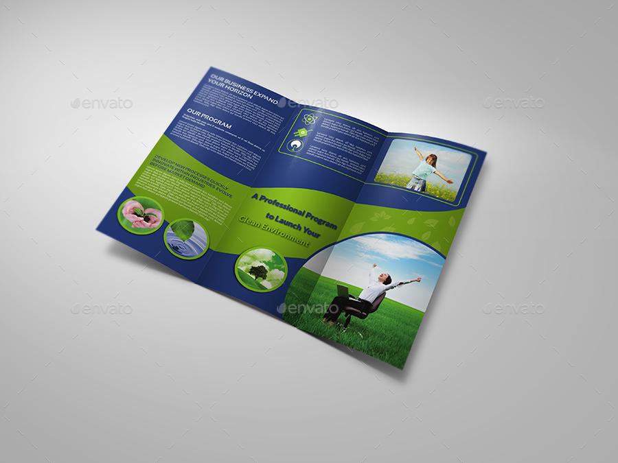 environment eco tri fold brochure template vol2