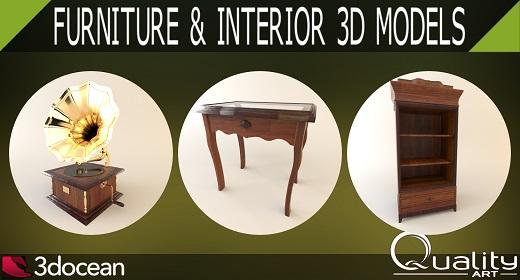 Furniture & Interior 3D Models