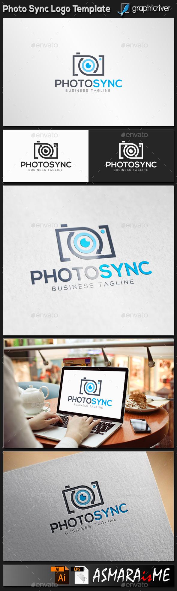 Photo Synchron logo - Objects Logo Templates