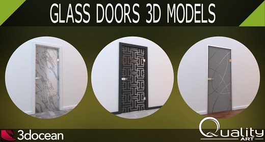 Glass Doors 3D Models