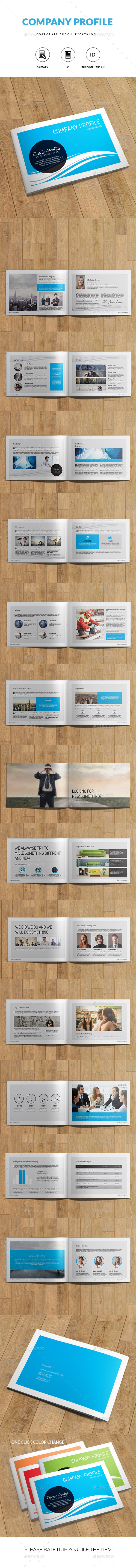 Company Profile | A5 Indesign Brochure - Catalogs Brochures