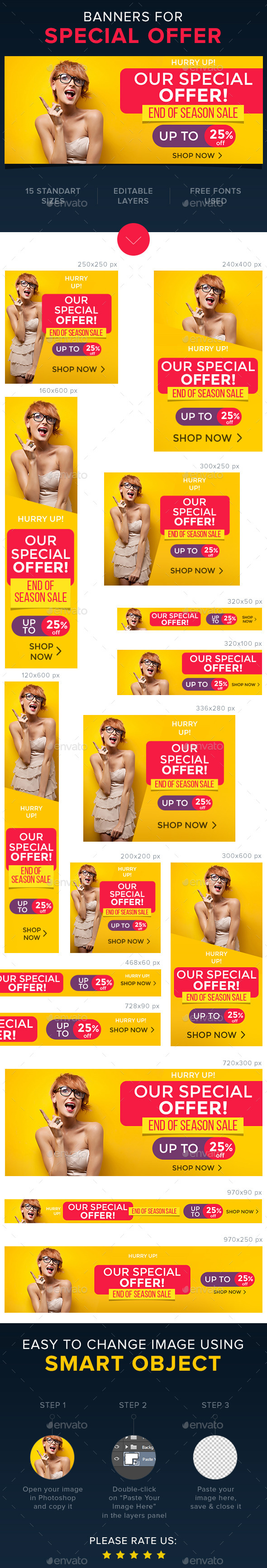 Special Offer Banners  - Banners & Ads Web Elements