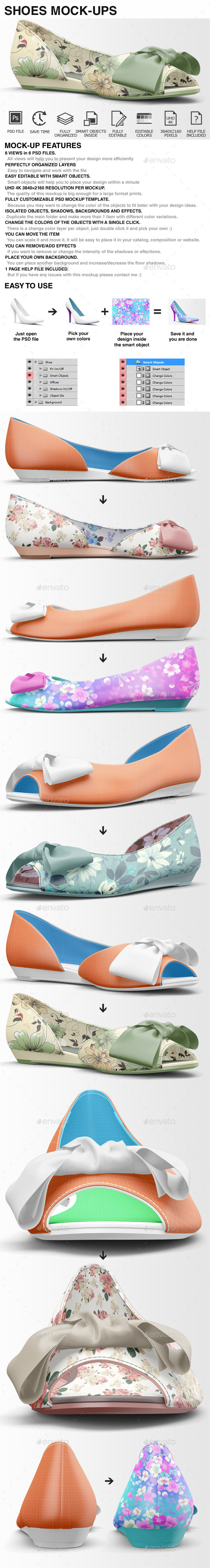 Shoes Mockup - Woman Shoes Mockups Vol 3 - Miscellaneous Apparel