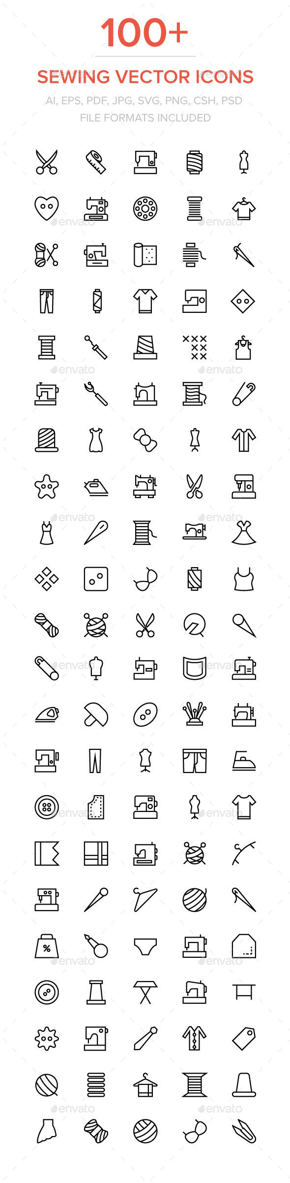 100+ Sewing and Stitching Icons - Icons