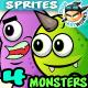 Monster Enemies 2D Game Character Sprites 02