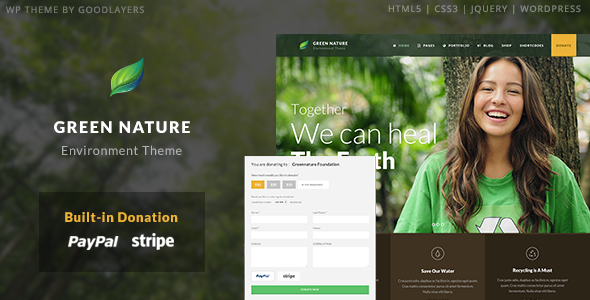 Green Nature - Environmental / Non-Profit WP Theme - introduction