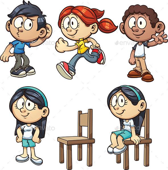 Cartoon Kids - People Characters
