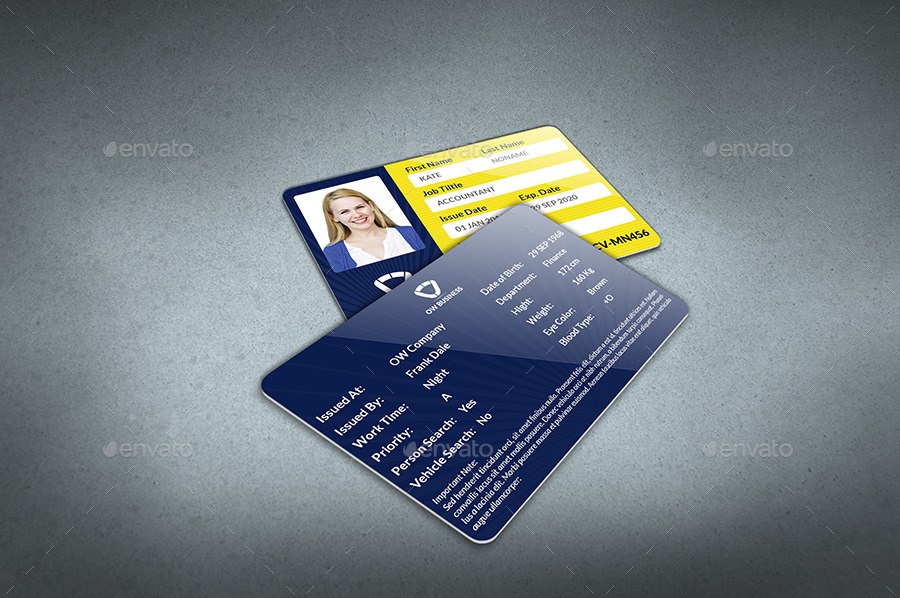 Multipurpose Business Id Card Template Vol2 By Owpictures