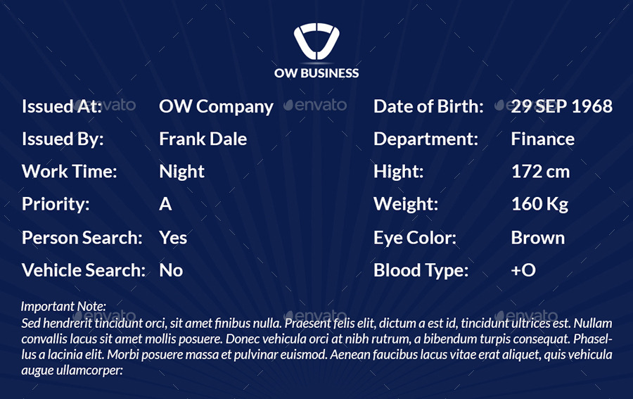 multipurpose business id card template vol 2 by owpictures