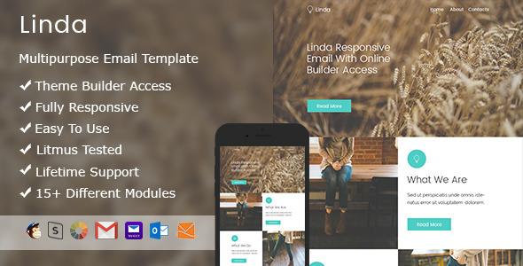 Linda –  Responsive Email + StampReady Builder