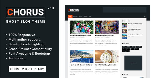 Chorus – Blog and  Magazine Ghost Theme