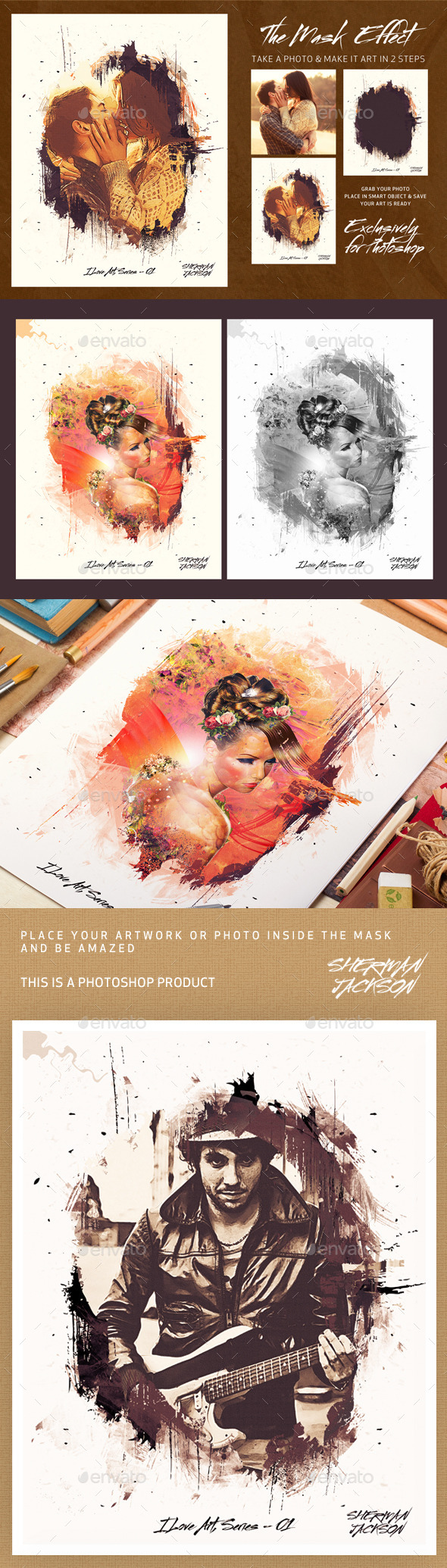 The Mask Effect - Artistic FX - Photo Templates Graphics