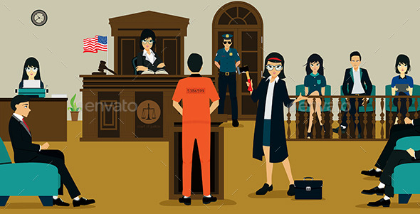 Court Of Justice - People Characters