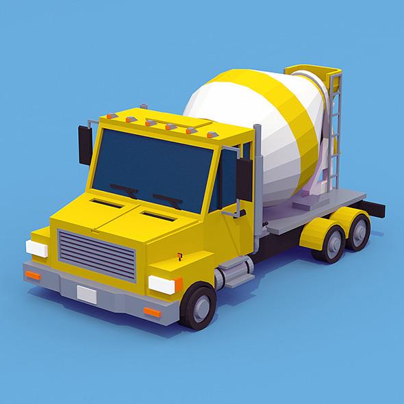 Truck Mixer - 3DOcean Item for Sale