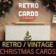 Retro Vintage Christmas Card Pack - GraphicRiver Item for Sale