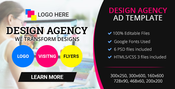 GWD - Design Agency Banner 001 - CodeCanyon Item for Sale