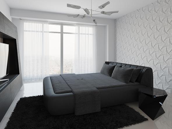 Realistic Interior Scene + PSD File - Bedroom 001 - 3DOcean Item for Sale