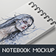 Notebook / Sketchbook Mock-up - GraphicRiver Item for Sale
