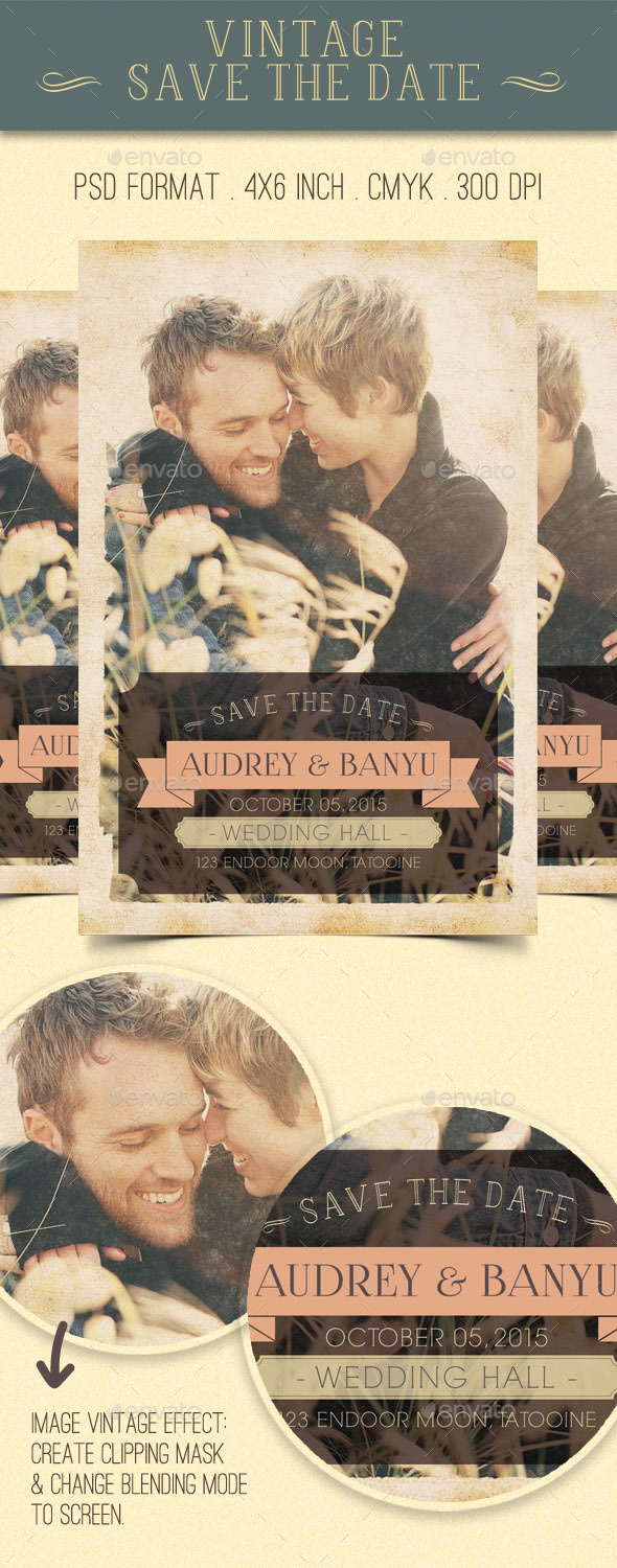 Vintage Save The Date - Weddings Cards & Invites
