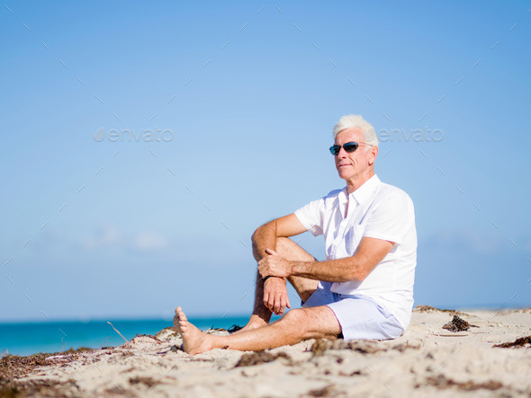 Relaxing at sea - Stock Photo - Images